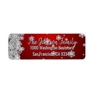 SCHNEEFLOCKEN Feiertags-Weihnachten-ROT