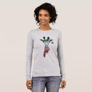 Schneegiraffe Langärmeliges T-Shirt