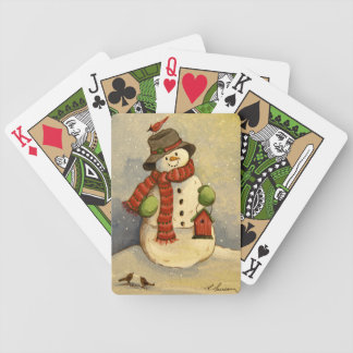 Schneemann 4905 u. Birdhouse-Weihnachten Spielkarten