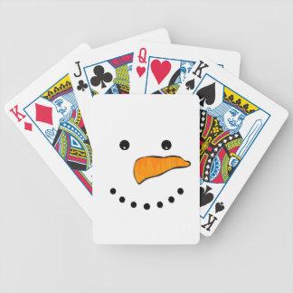 Schneemann-Gesicht Pokerkarten