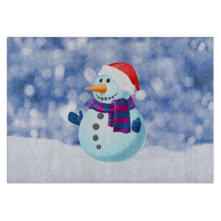 Schneemann-Winter-frohe Weihnacht-Schnee Schneidebrett