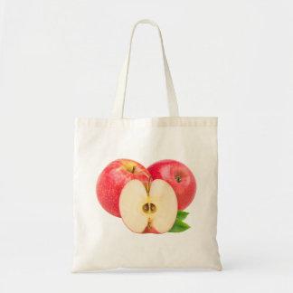 Schneiden Sie rote Äpfel Tragetasche