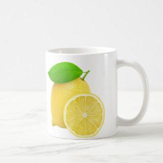 Schneiden Sie Zitrone Tasse