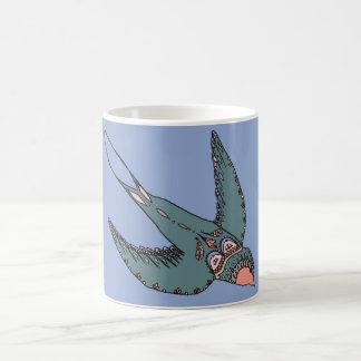 Schnell Swooping Schwalben-Tassen-Blau Tasse