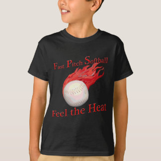 Schnelles Neigungs-Softball-Gefühl die Hitze T-Shirt