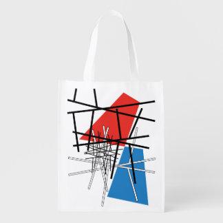 Schnitt der Linien u. der Flugzeuge - abstrakte Wiederverwendbare Einkaufstasche