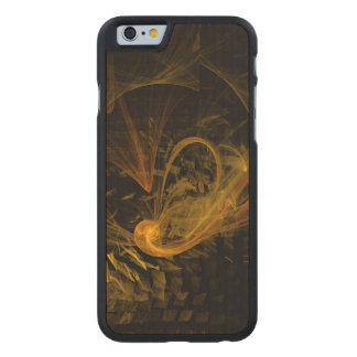 Schnittpunkt-abstrakte Kunst Carved® iPhone 6 Hülle Ahorn