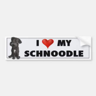 Schnoodle (schwarzer) Liebe-Aufkleber Autoaufkleber
