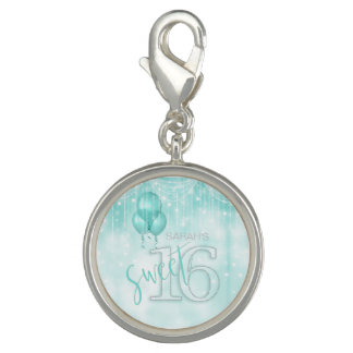 Schnur-Licht-u. Ballon-Bonbon 16 aquamarines ID473 Charm