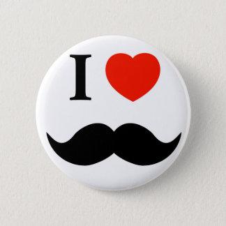 Schnurrbart der Liebe I Runder Button 5,1 Cm