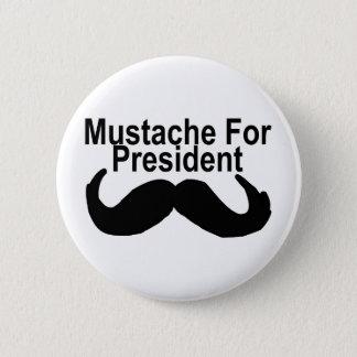 Schnurrbart für Präsidenten Runder Button 5,1 Cm