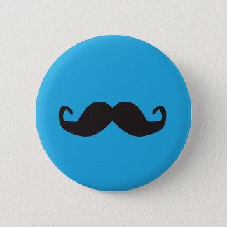 Schnurrbart-Knopf Runder Button 5,1 Cm