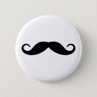 Schnurrbart-Knopf Runder Button 5,7 Cm