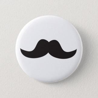 Schnurrbart Runder Button 5,1 Cm