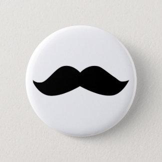 Schnurrbart Runder Button 5,7 Cm