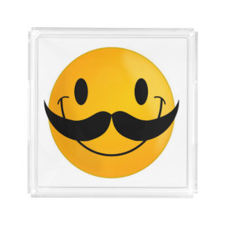 SCHNURRBART-SMILEY ACRYL TABLETT