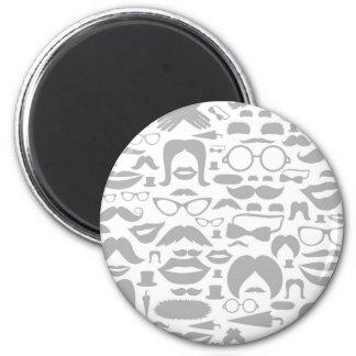 Schnurrbärte ein Hintergrund Runder Magnet 5,7 Cm