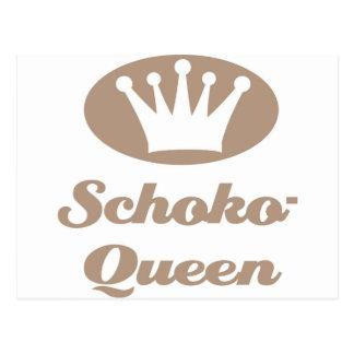 Schoko- Queen Postkarten