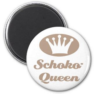 Schoko- Queen Runder Magnet 5,7 Cm