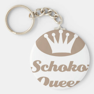 Schoko- Queen Standard Runder Schlüsselanhänger