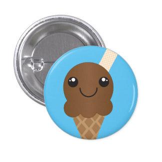 Schokoladen-Eiscreme-Knopf Runder Button 2,5 Cm