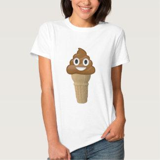 Schokoladen-Eiscreme oder kacken? Emoji Spaß! T-shirt