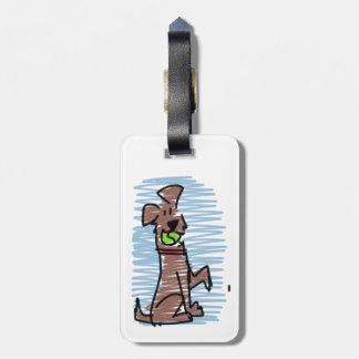 Schokoladen-Labrador-Gepäck-Umbau Kofferanhänger
