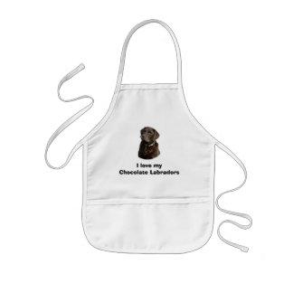 Schokoladen-Labrador-HundeFotoporträt Kinderschürze