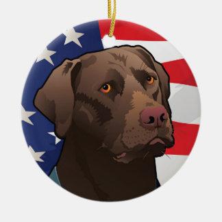 Schokoladen-Labrador-Retriever von Amerika Keramik Ornament
