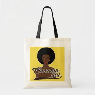 Schokoladen-Mädchen-Taschen-Tasche Tragetasche