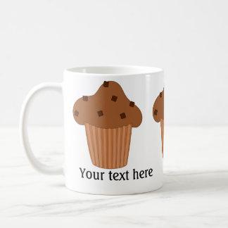 Schokoladen-Muffin: Addieren Sie Ihren Text Kaffeetasse