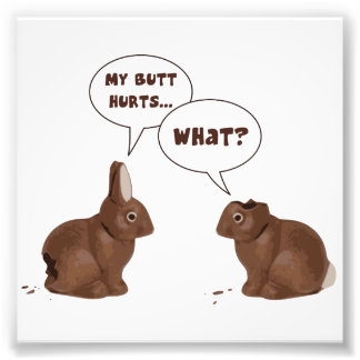 Schokoladen-Osterhasen-Kaninchen-HinternHurts Kunstfoto