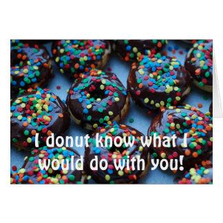 Schokoladen-Schaumgummiringe mit besprüht Grußkarte