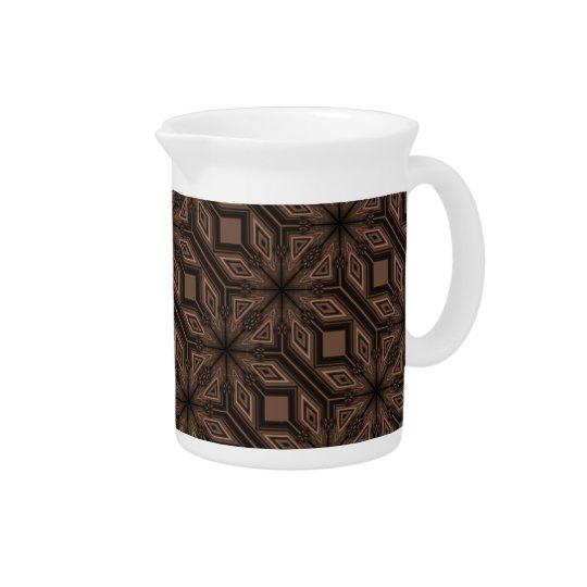 Schokoladenbrauner Mosaik-Porzellan-Krug Krüge
