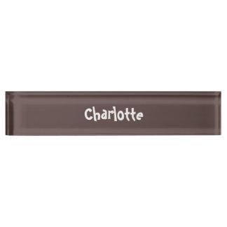 Schokoladenbraunes personalisiertes