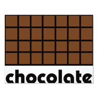 Schokoladenikone 10,8 X 14 Cm Einladungskarte