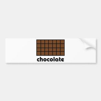 Schokoladenikone Autoaufkleber