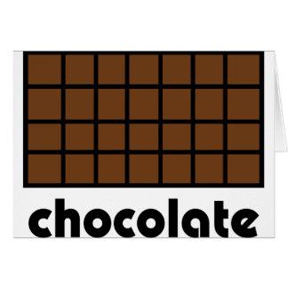 Schokoladenikone Grußkarte