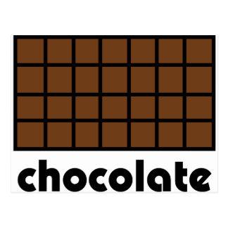Schokoladenikone Postkarte