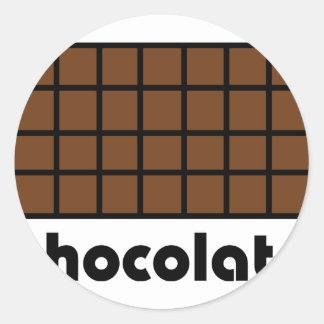 Schokoladenikone Runder Aufkleber
