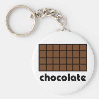Schokoladenikone Standard Runder Schlüsselanhänger