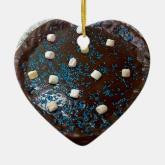 Schokoladenkuchen Keramik Ornament