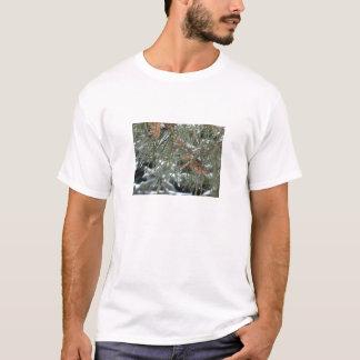 Schön, Snowy-Kiefern-Baum-T - Shirt