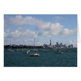 Schöne Auckland-Skyline Karte