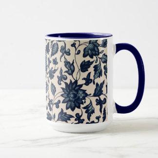 Schöne blaue asiatische BlumenTasse Tasse