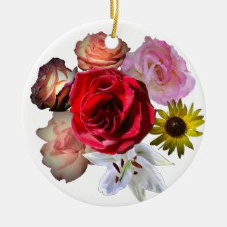 Schöne Blumen Keramik Ornament