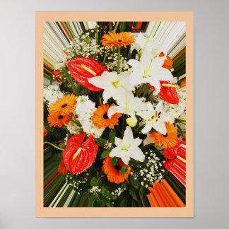 Schöne Blumen Poster