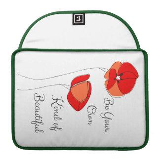 Schöne Blumenlaptop-Hülse Sleeve Für MacBooks