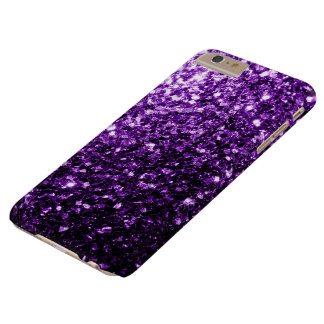 Schöne dunkle lila Glitter-Glitzern Barely There iPhone 6 Plus Hülle