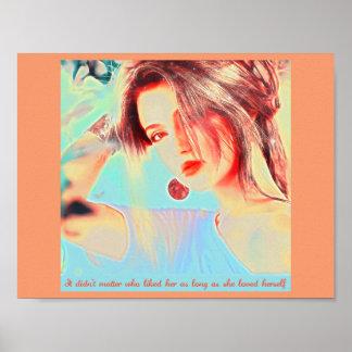 Schöne elegante Dame Poster